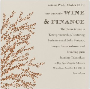 Wine and Finance event Oct 2013