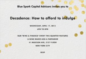 Spring 2013 Wine & Finance: Affordable Indulgences