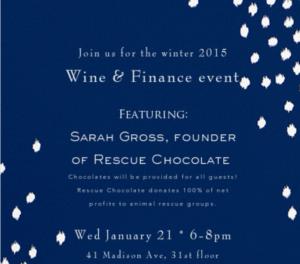 Winter 2015 Wine & Finance: Entrepreneurship