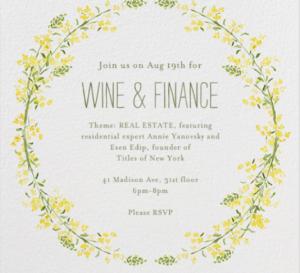 Summer 2014 Wine & Finance: Real Estate