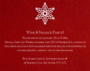 Winter 2014 Wine & Finance: Exubrancy